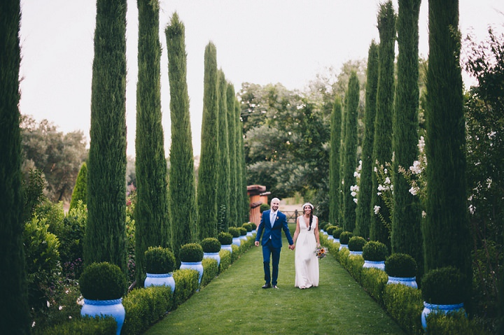 The gorgeous venue inspired the whole wedding theme and decor