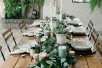 eucalyptus used for wedding table decor