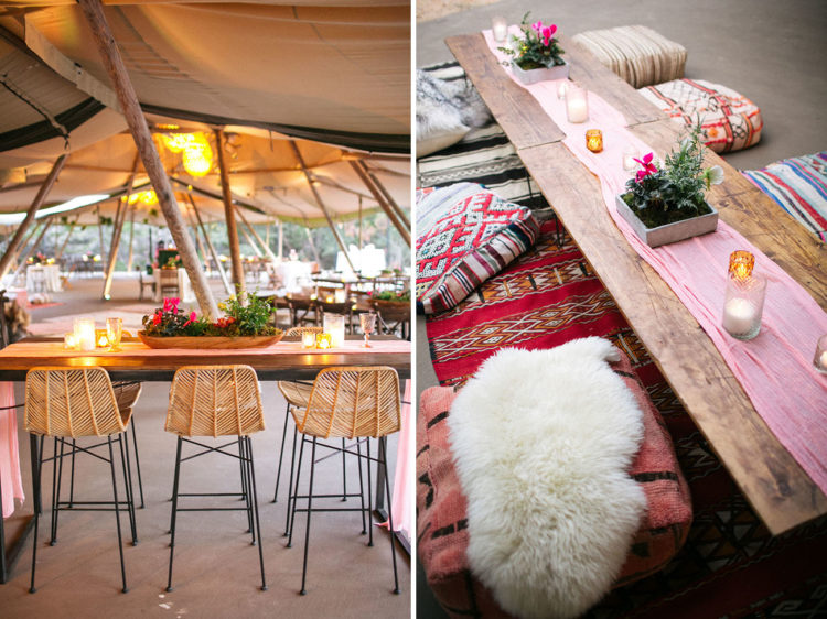 There were different tables and various decor to inspire the guests choose their own places