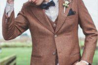 tweed suit groom's outfit