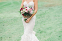 11 a spaghetti strap mermaid wedding dress with lace appliques and a sweetheart neckline for a romantic bride