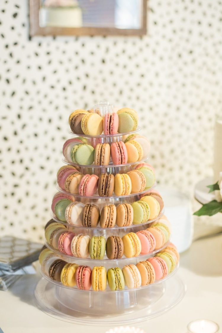 The was also a macaron tower served with the cake