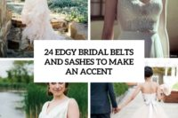 24 edgy bridal belts and sashes to make an accent cover