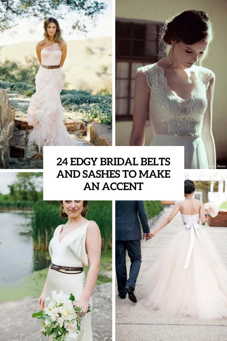 24 Edgy Bridal Belts And Sashes To Make An Accent