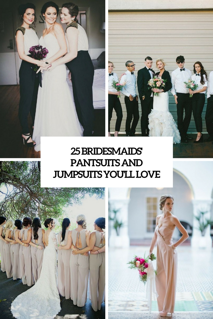25 Bridesmaids' Pantsuits And Jumpsuits You'll Love