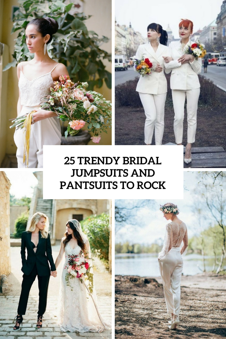 25 Trendy Bridal Jumpsuits And Pantsuits To Rock Weddingomania
