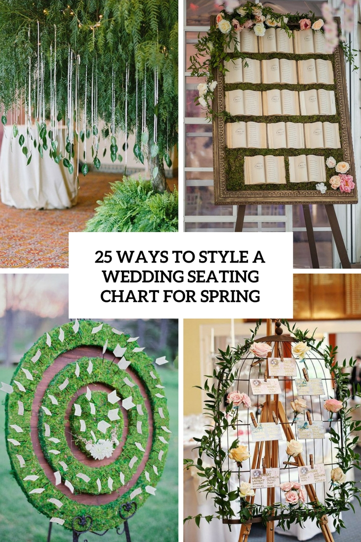 ways to style a wedding seating chart for spring cover