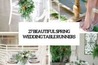 27 beautiful spring wedding table runners cover
