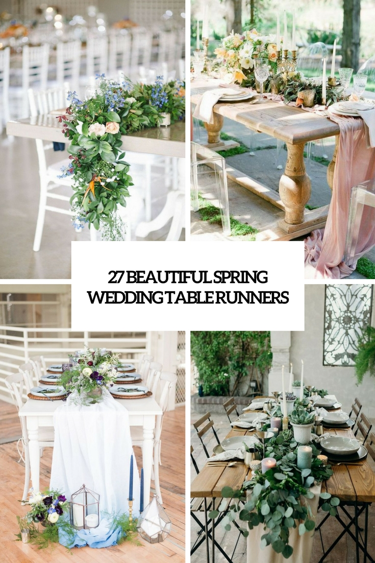 27 Beautiful Spring Wedding Table Runners