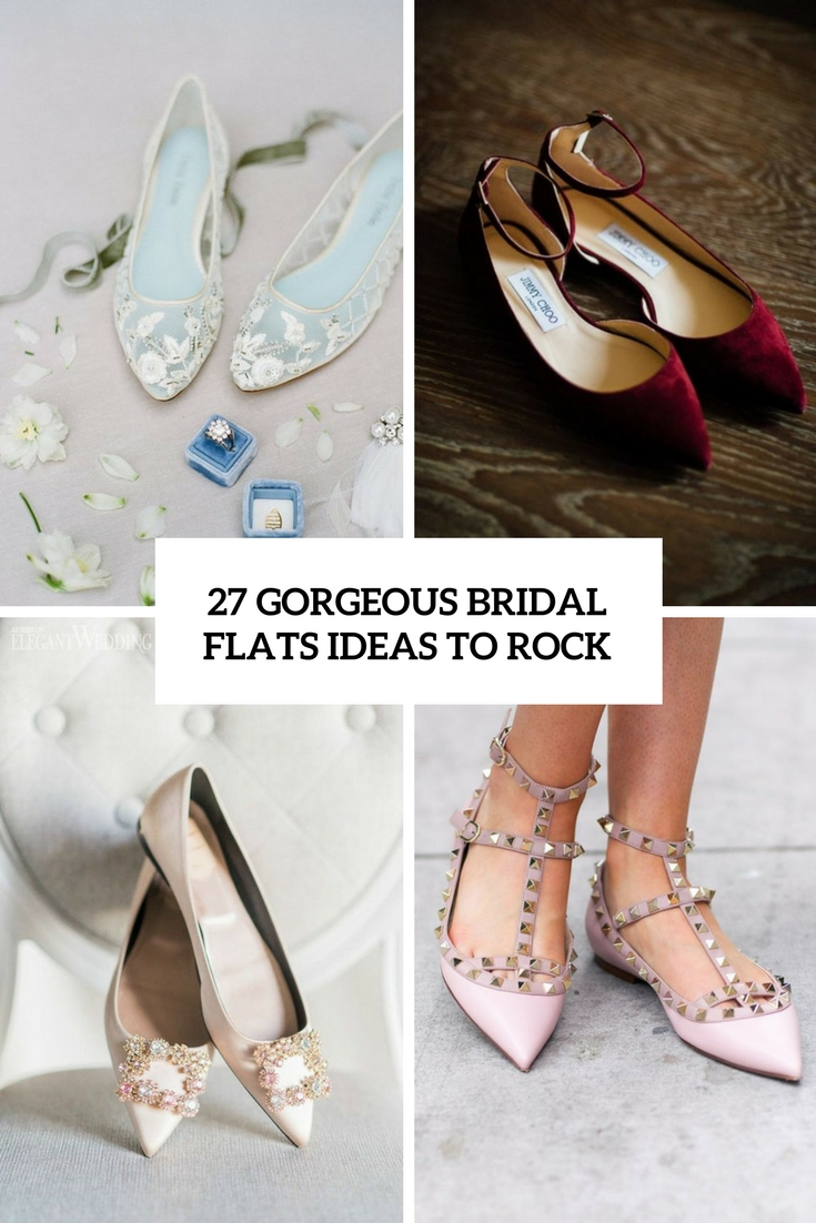 gorgeous bridal flats ideas to rock cover