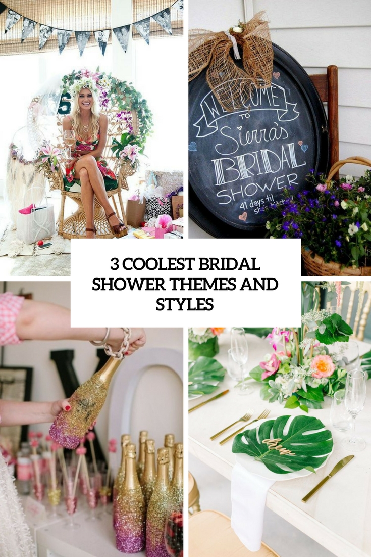 3 Coolest Bridal Shower Themes And Styles Weddingomania