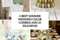 4 best summer wedding color combos and 25 examples cover