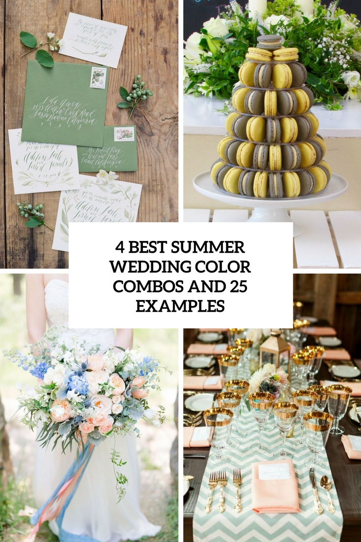 4 best summer wedding color combos and 25 examples weddingomania 4 best summer wedding color combos and 25 examples cover junglespirit Image collections