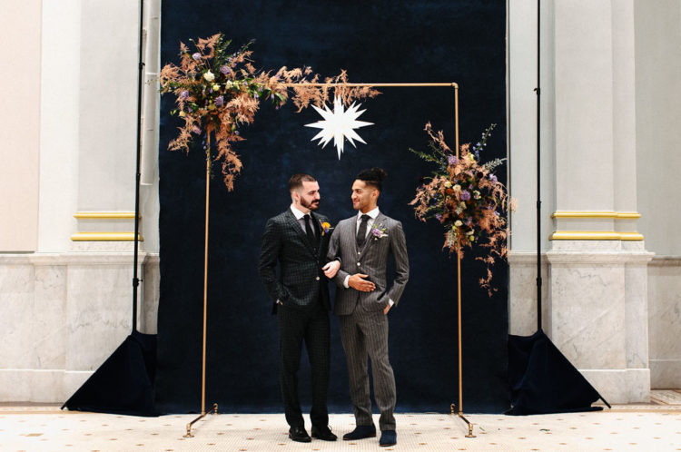 This amazing wedding shoot is dedicated to a popular wedding theme   celestial theme, and ways to pull it off for a masculine wedding