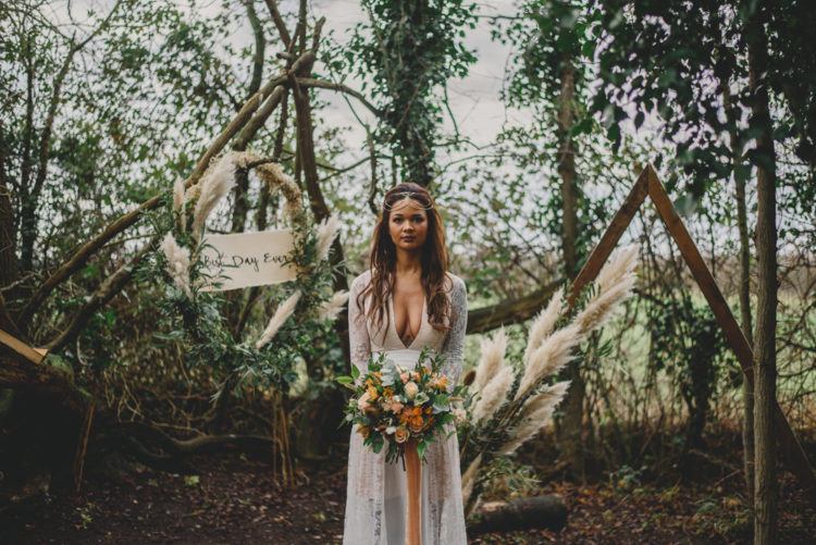This amazing wedding shoot was boho, wild, moody and woodland at the same time
