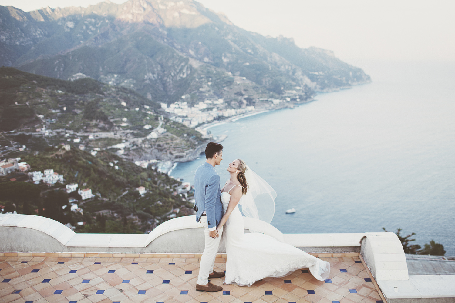 This beautiful outdoor wedding was a destination one on the Amalfi coast, with a glam touch