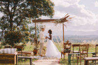 01 This boho chic glamping wedding shoot took place in Africa and was done with genuine African items and art