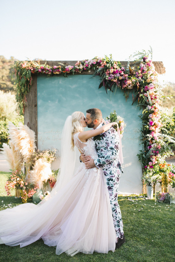 Whimsical Floral Wedding At A Vineyard