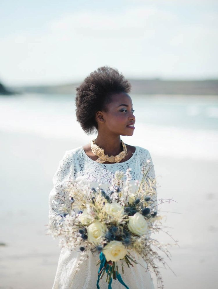 This bridal shoot took place on the English coast and was influence by Mediterranean and Moroccan vibes