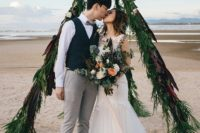 01 This couple from Hong Kong decided to escape to a Thai beach for a destination wedding with a touch of glam and boho