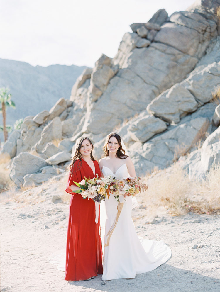 This gorgeous eclectic wedding took place in a resort located in desert hills and was filled with boho touches
