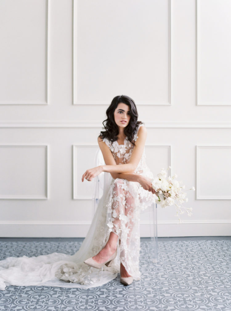 Modern Romantic Bridal Shoot In Neutrals