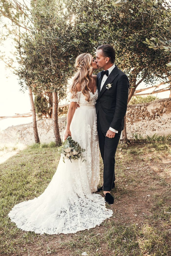 This romantic wedding took place in an ancient village on the Amalfi coast