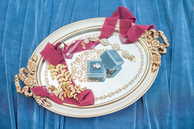 Romantic Blue And Pink Castle Wedding Shoot
