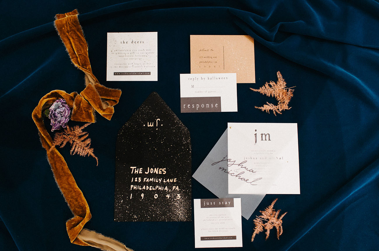 cool wedding invitation suite