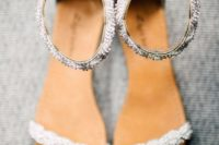 03 embellished ankle strap flat sandals are comfortable and look chic and sparkling