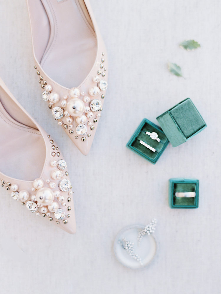 She was also wearing gorgeous embellished blush shoes that just take your breath away