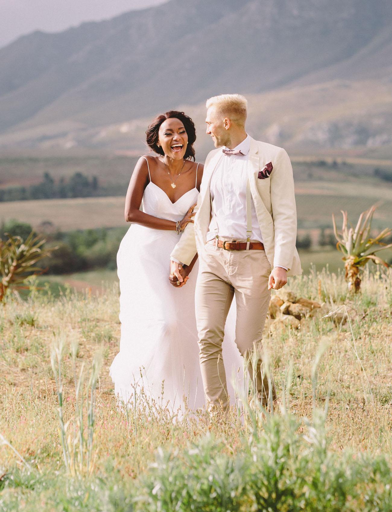 stylish spaghetti strap wedding gown