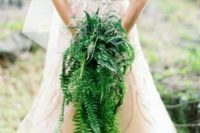 fern wedding bouquet
