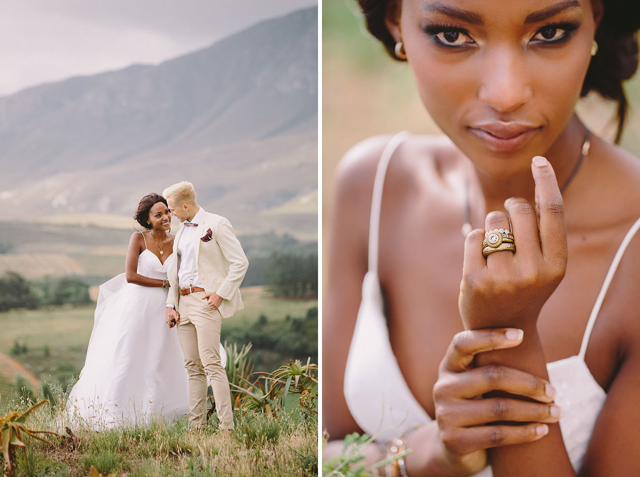 Look at that ring, it was made for the shoot to add African influence to the look