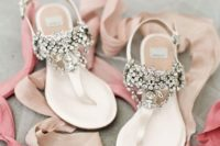 05 jeweled flat sandals are amazing for wearing for a summer wedding not to get hot
