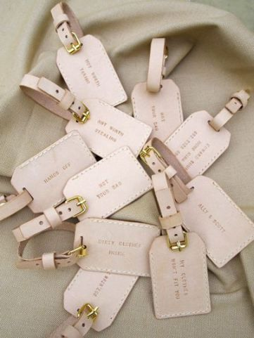 personalized luggage tags are awesome for destination weddings and they can be DIYed by you