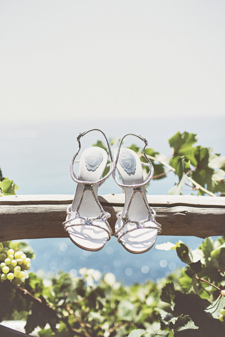 Here are glam and sparkling bridal heeled sandals
