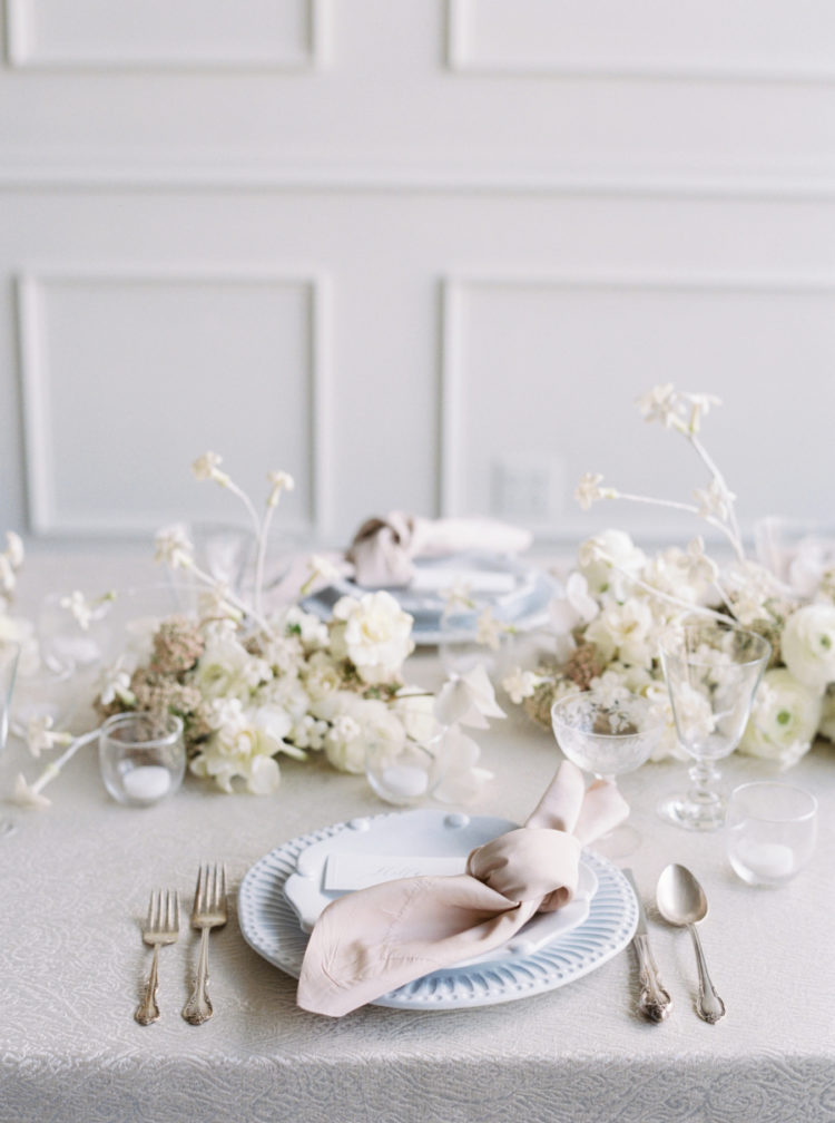 The tablescape was a perfect mix of refined classics and modern touches