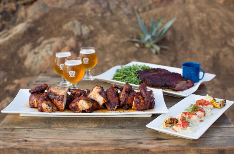 As the shoot took place in a brewery, there was much beer and BBQ