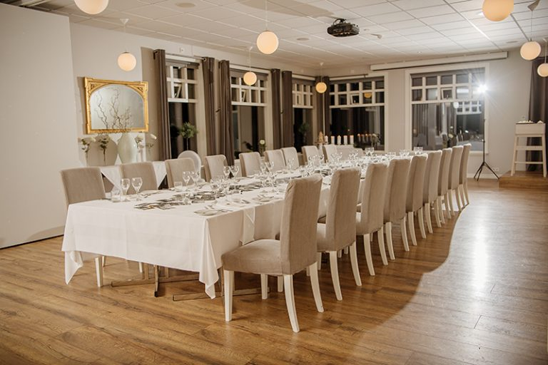 The reception space in the hotel was elegant and simple, done in neutrals