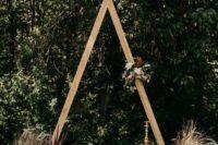 floral wooden wedding arch