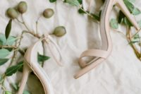 09 simple minimalist nude ankle strap heeled sandals are perfect not only for the wedding but for casual days, too