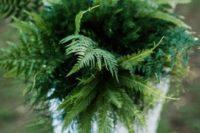 12 a fern wedding bouquet is a chic textural idea for a modern bride