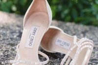17 amazing embellished wedding heels with a sparkling strappy top