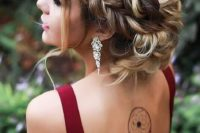 19 a gorgeous braided crown updo on long hair just takes the breath away