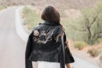 20 add some calligraphy and images to your black leather jacket and make a statement