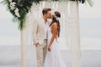 boho wedding arch for a tropical wedding