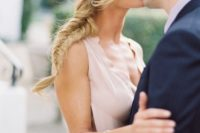 23 a side fishtail braid with some bangs is ideal for many bridal styles, and is a trendy option