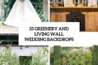 25 greenery and living wall wedding backdrops cover