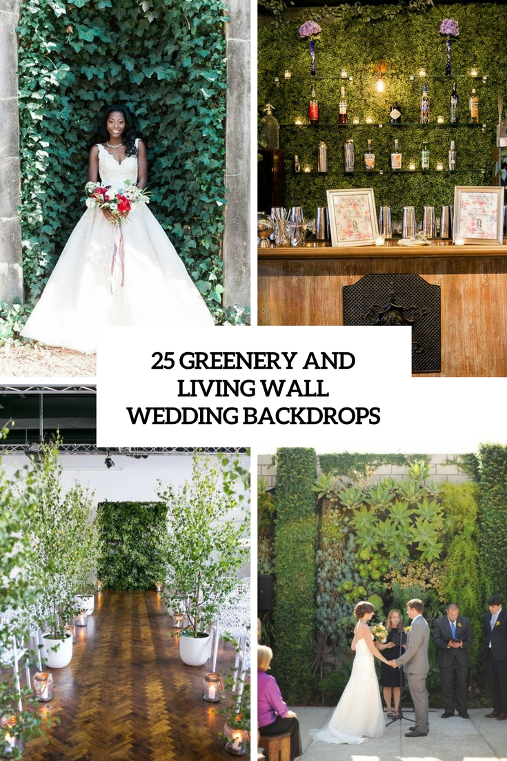 25 Greenery And Living Wall Wedding Backdrops